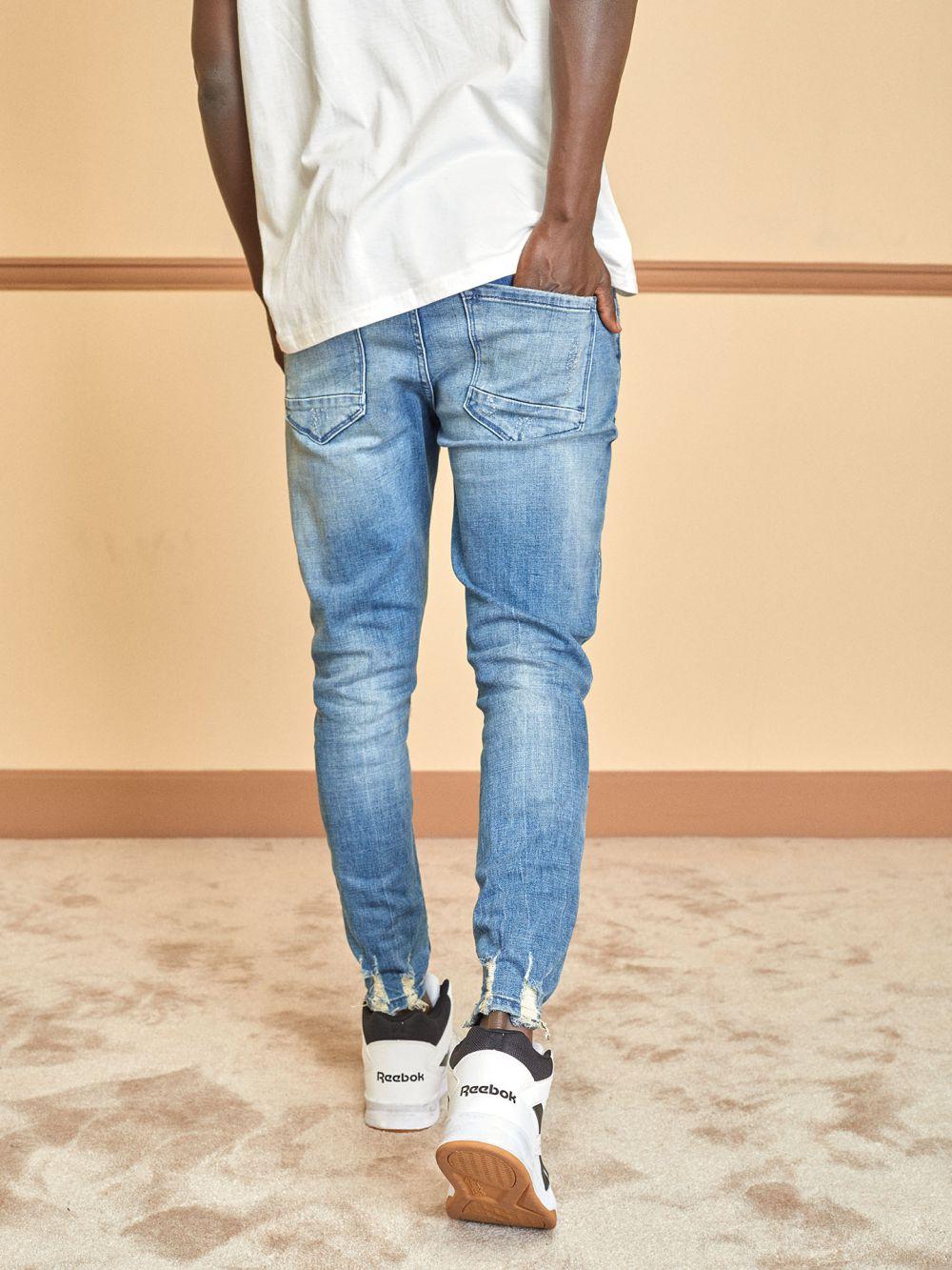 ג'ינס Simon קרעים בברך