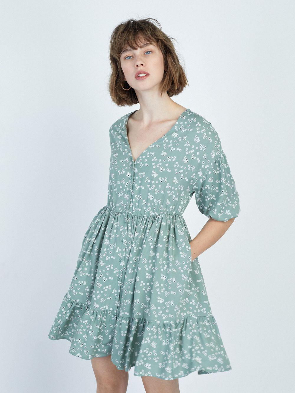 שמלת קומות פרחונית