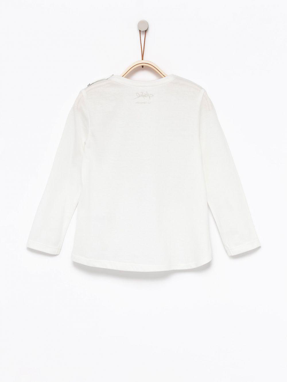חולצת טי בהדפס תיק צד