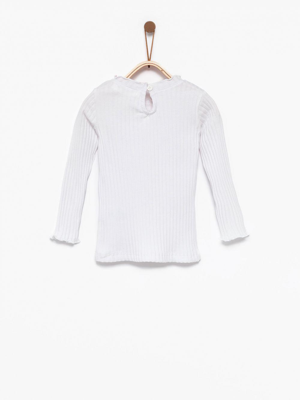 חולצת טי ריב צווארון מסולסל