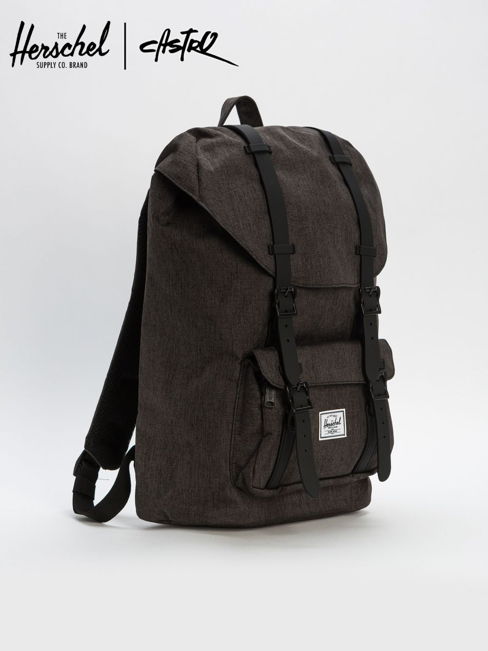 תיק גב HERSCHEL LITTLE AMERICA MID-VOLUME BLACK CROSSHATCH/BLACK