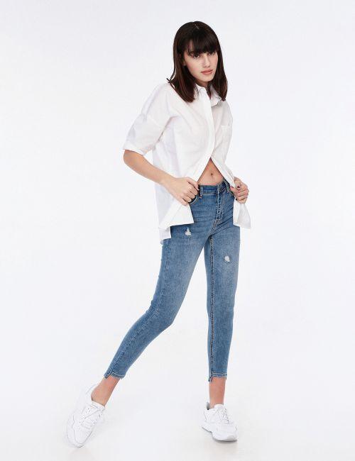 ג'ינס SARAI סיומת אסימטרית