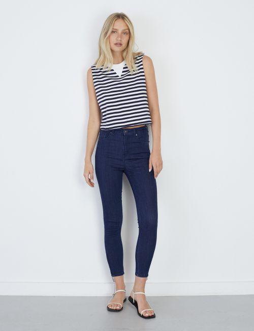 ג'ינס SARAI Skinny עם רוכסנים