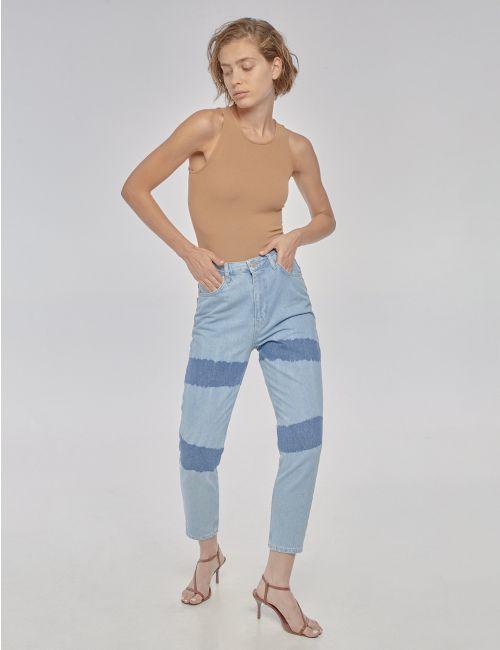 ג'ינס MOM פסי טאי דאי