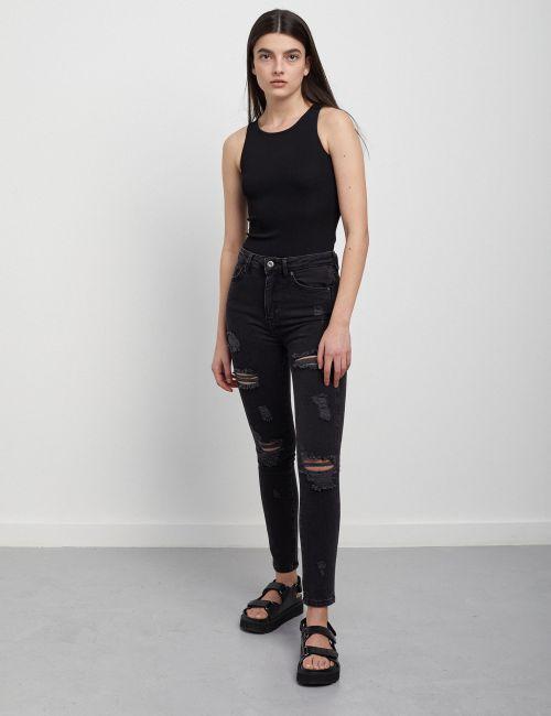 ג'ינס SARAI Skinny קרעים