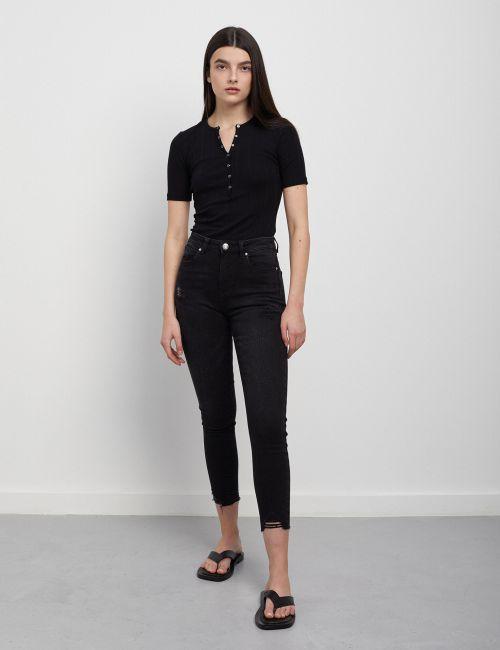 ג'ינס SARAI Skinny מכפלת מכוסחת