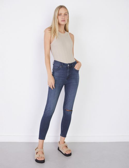 ג'ינס KEREN Skinny עם קרע בברך
