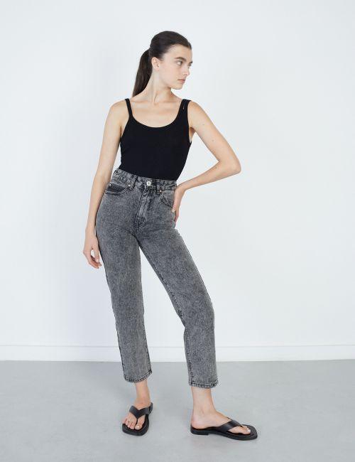 ג'ינס STRAIGHT במראה מכובס