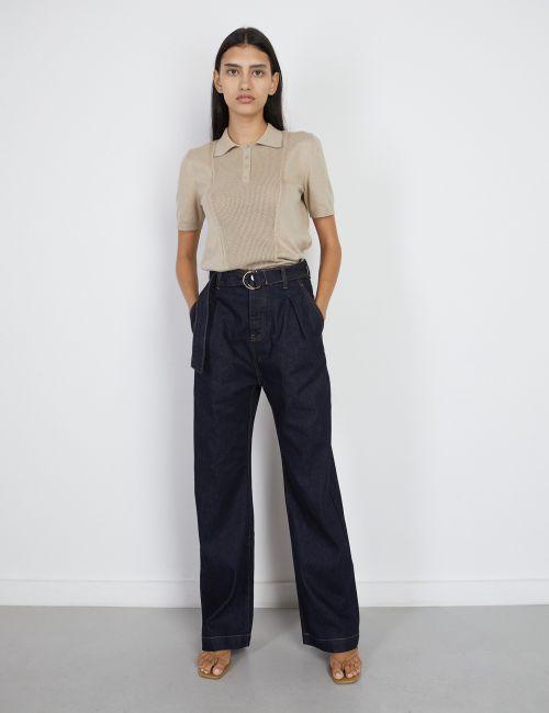 ג'ינס WIDE Leg עם חגורה