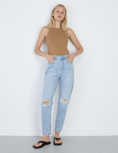 ג'ינס MOM קרעים