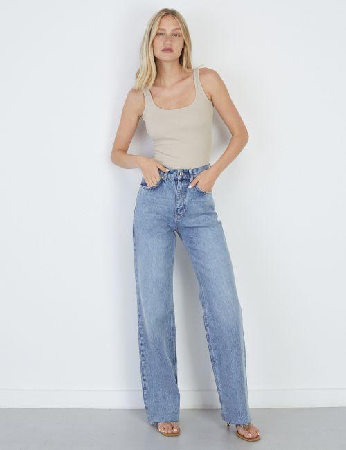 ג'ינס WIDE Leg מכפלת גזורה