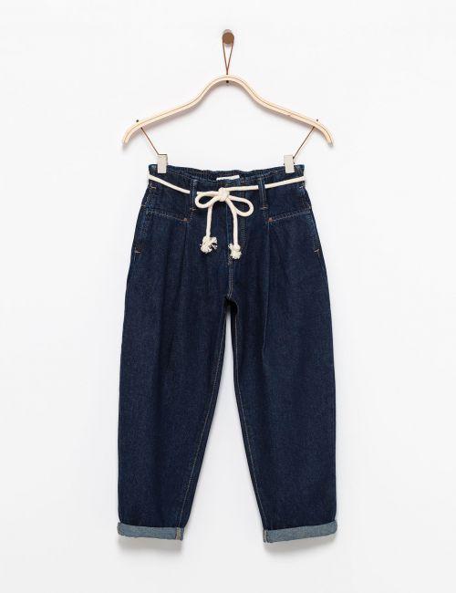 ג'ינס Baggy עם חגורת חבל