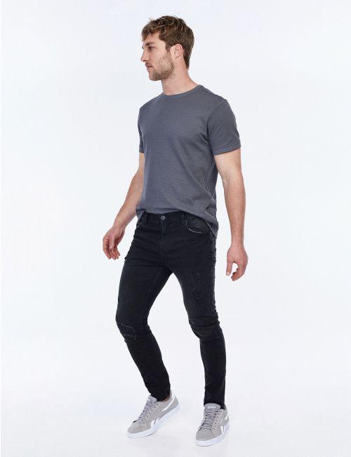 ג'ינס DANIEL צר עם קרעים