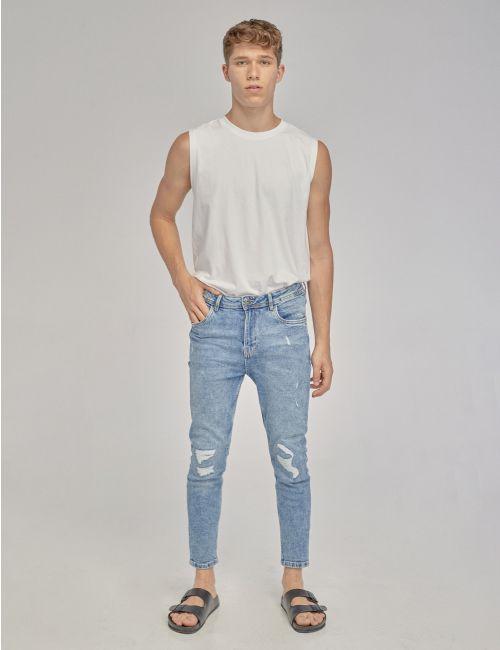 ג'ינס Daniel crop קרעים