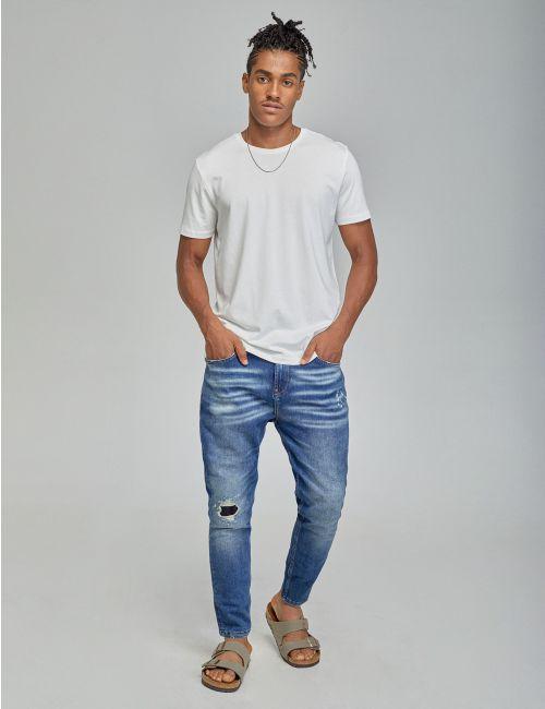 ג'ינס SIMON Carrot וינטאג' עם קרע בברך