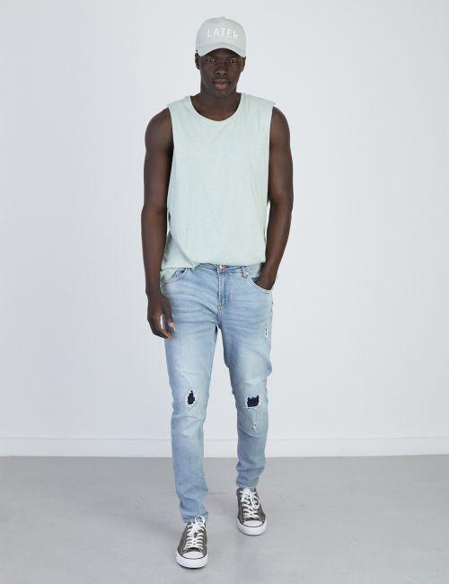 ג'ינס DANIEL Super Skinny פאצ'ים