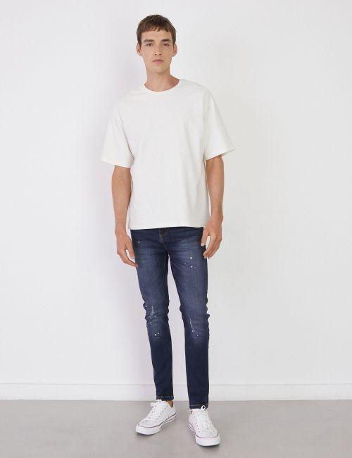 ג'ינס DANIEL Super Skinny כתמי צבע