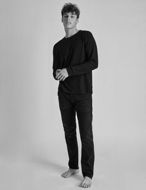 ג'ינס MOSES Slim שחור מכובס