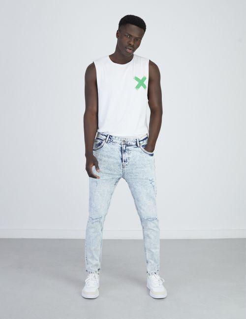 ג'ינס DANIEL Super Skinny במראה מכובס ומשופשף