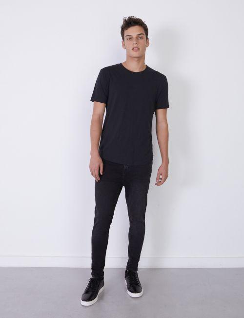 ג'ינס SIMON Carrot שחור מכובס