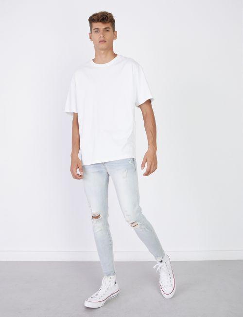 ג'ינס DANIEL Super Skinny קרעים