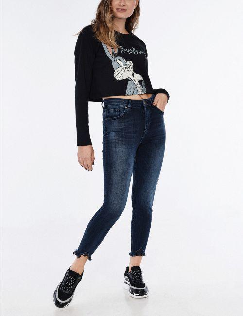ג'ינס Sarai Petite עם מכפלת מכוסחת