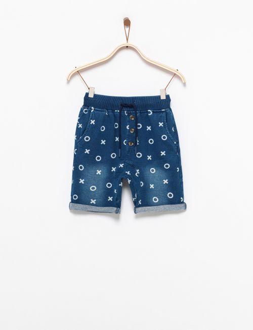 מכנסיים במראה ג'ינס איקס עיגול