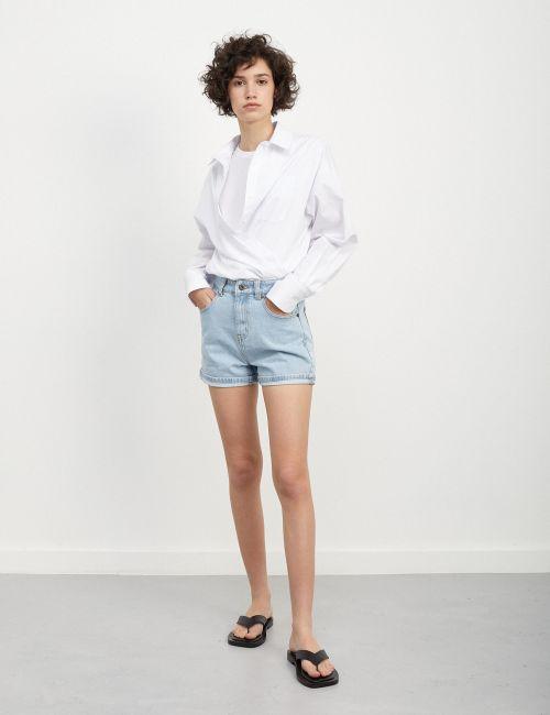 ג'ינס MOM קצר