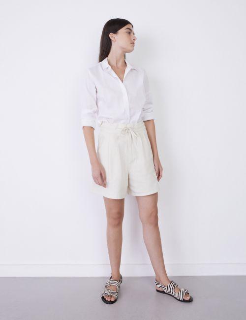 ג'ינס ברמודה במראה מכובס