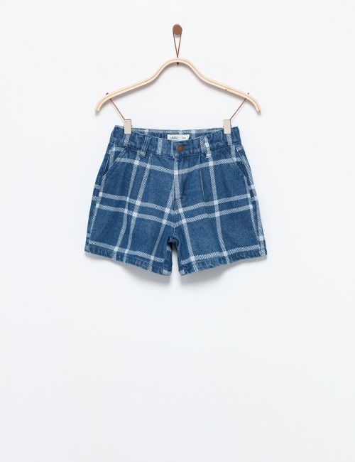 ג'ינס שורטס משבצות