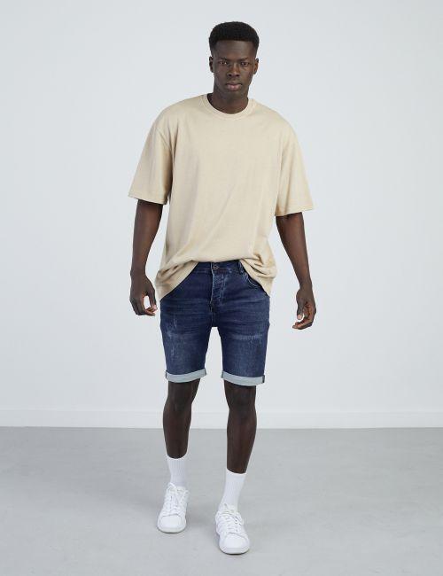 ג'ינס ברמודה סרוג