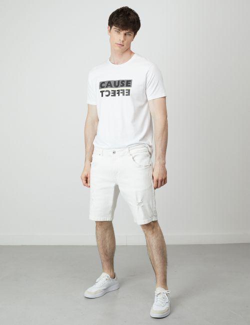ג'ינס ברמודה עם קרעים
