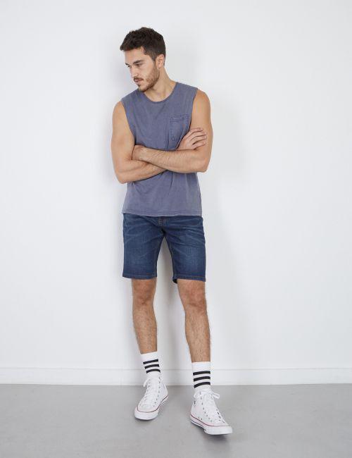 ג'ינס קצר במראה מכובס