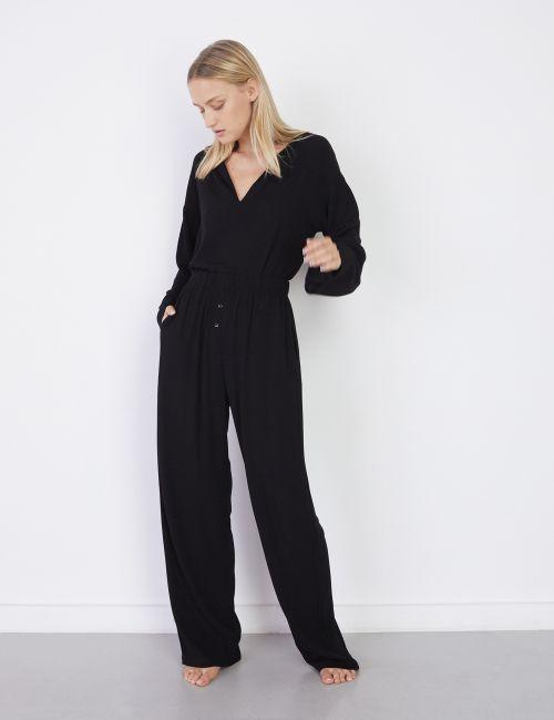 מכנסיים רחבים עם גומי במותן