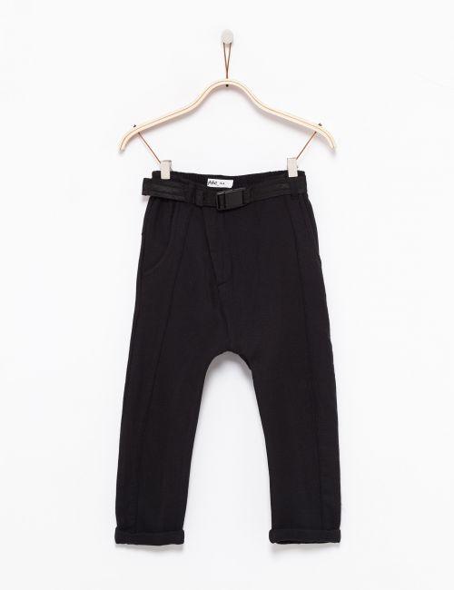 מכנסי שק רחבים עם חגורה
