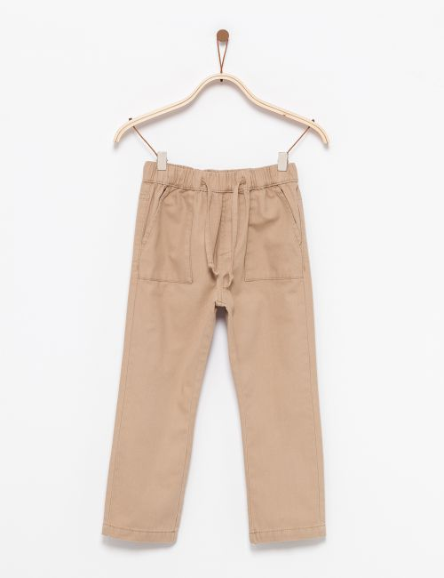 מכנסי כותנה עם כיסים