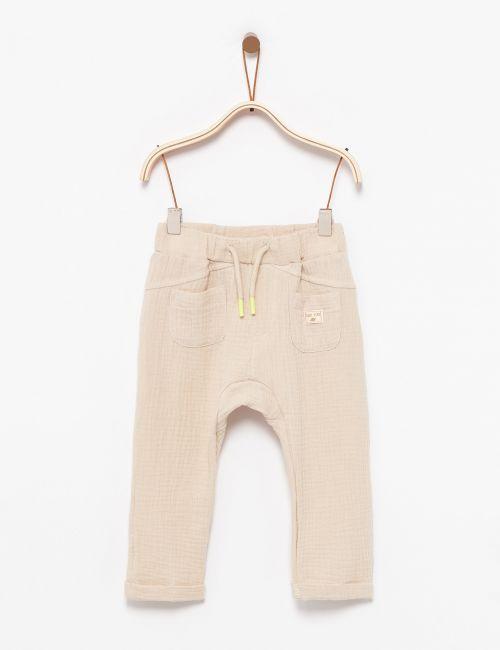 מכנסי דרופ עם טקסטורה