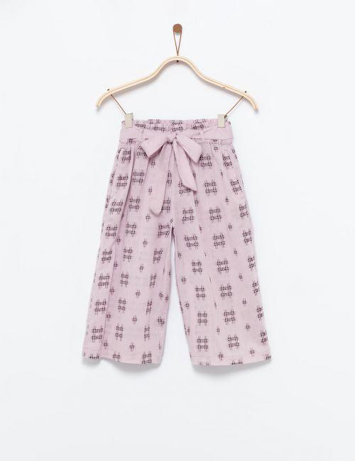 מכנסיים רחבים עם חגרת קשירה