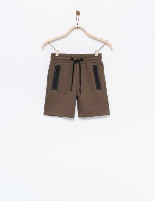 מכנסי פוטר קצרים עם רוכסנים