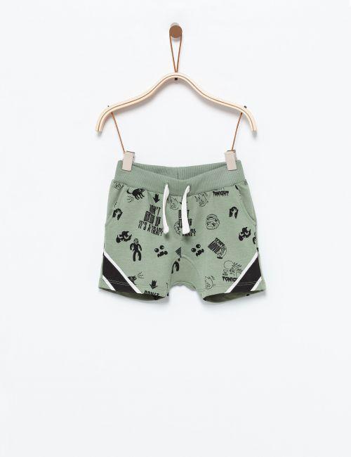 מכנסיים קצרים בהדפס רוק