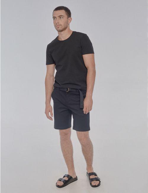 מכנסיים קצרים עם חגורת קנבס