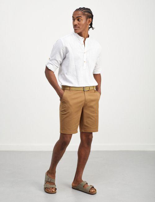 מכנסי ברמודה מודפסים