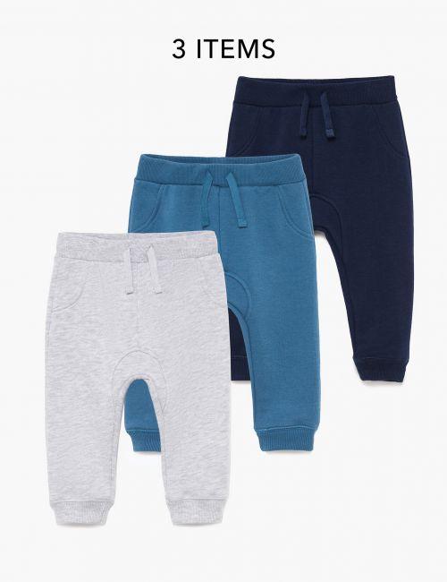 מארז 3 זוגות מכנסי פוטר חלקים