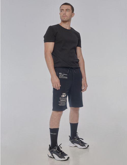מכנסיים קצרים עם הדפס טקסט