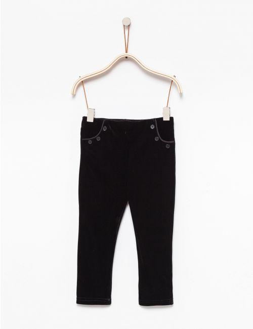 מכנסי קטיפה צמודים עם כיסים
