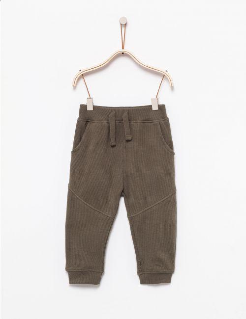 מכנסי פוטר בטקסטורת וופל
