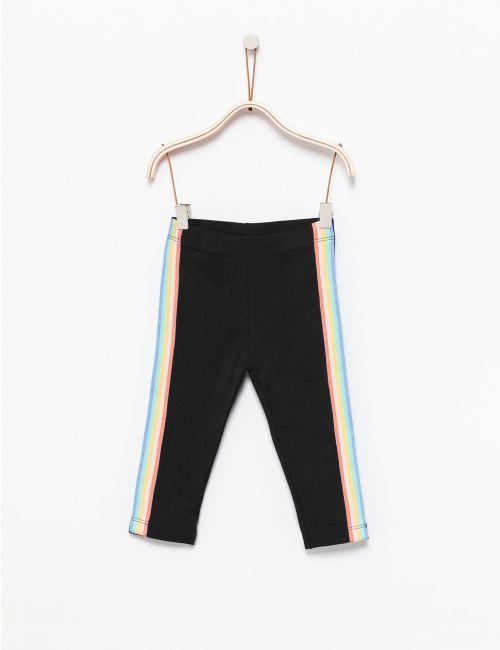 מכנסי טייץ עם פסים צבעוניים