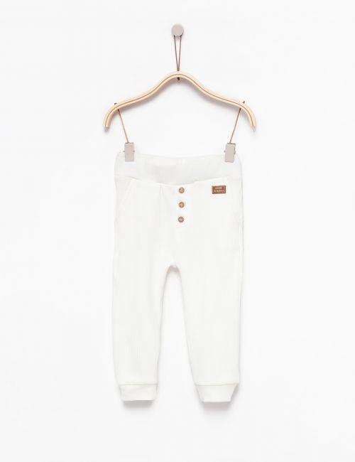 מכנסי ריב עם כפתורים