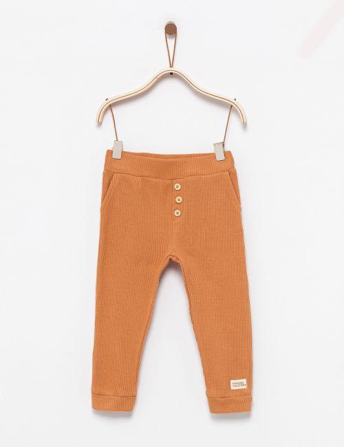 מכנסי וופל עם כיסים