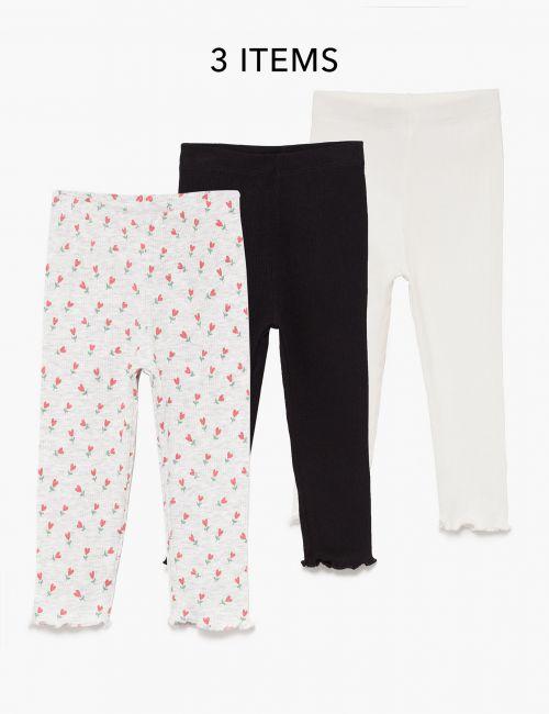 מארז 3 מכנסי ריב ארוכים
